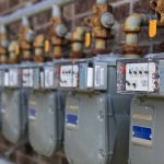 Picture of gas meters