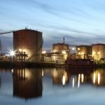 photo of oil storage tanks