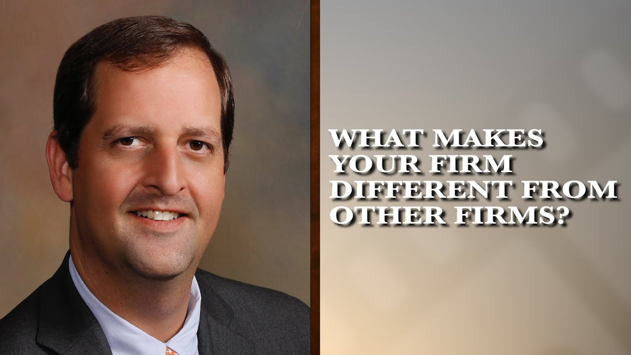What makes your firm different from other firms?